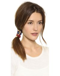 Marc By Marc Jacobs Multicolor Apple Of My Eye Pony Hair Ties Cabernet Red Multi