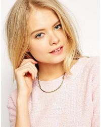 Stella & Bow | Metallic Maria Bar Necklace | Lyst