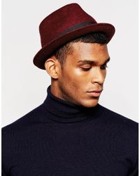 Catarzi - Red Pork Pie Hat for Men - Lyst