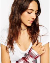 ASOS Black Mini Jewel Choker Necklace