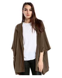 Michael Stars | Brown Cashmere Blend Cape With Front Pockets | Lyst