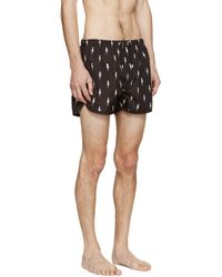 Neil Barrett - Black Nylon Thunderbolt Swim Shorts for Men - Lyst