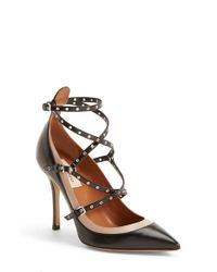 Valentino | Black 'Love Latch' Strappy Grommet Pump | Lyst