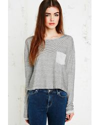 BDG | Gray Slouchy Stripe Top  | Lyst