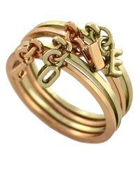 BCBGeneration - Metallic Twotone Swing Charm Love Ring Set 4 - Lyst