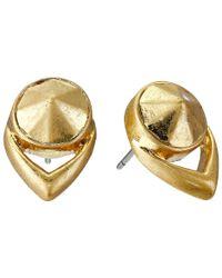 Vince Camuto | Metallic Stone Stud Earrings | Lyst