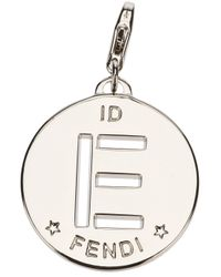 Fendi | Metallic 'E' Identity Pendant | Lyst