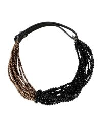Brunello Cucinelli | Metallic Beaded Multi-strand Necklace | Lyst