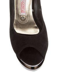 Gianmarco Lorenzi   Black Peep Toe Shoe   Lyst