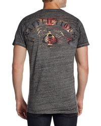 Affliction - Gray American Custom Metallic Graphic Tee for Men - Lyst
