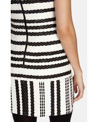 Karen Millen Multicolor Striped Tweed Shift Mini Dress