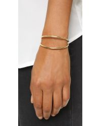 Elizabeth and James | Metallic Nova Cuff Bracelet - Gold/ruby | Lyst