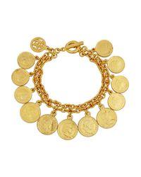Ben-Amun | Metallic Moroccan Coin Gold-Plated Bracelet | Lyst