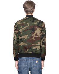 Carhartt Green Loop Camouflage Printed Nylon Jacket for men