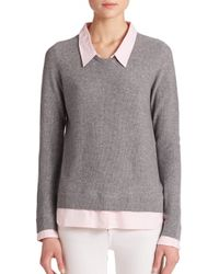 Joie - Gray Rika Layer-Effect Sweater - Lyst