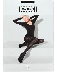 Wolford Black Ria Tights