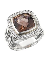 David Yurman | Metallic Pre-owned: Vintage Ss 11mm Pink Tourmaline Split Shank Ring | Lyst