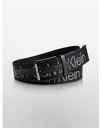 Calvin Klein | Black Harness Raised Logo Web Belt for Men | Lyst