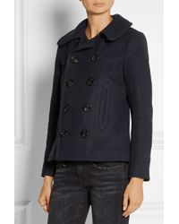 NLST - Blue Wool-Blend Peacoat - Lyst