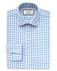 Thomas Pink | Blue Alder Check Slim Fit Dress Shirt for Men | Lyst