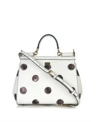 Dolce & Gabbana - White Sicily Mini Polka-Dot Leather Bag - Lyst