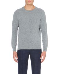 Richard James | Gray Crew-neck Cashmere Jumper for Men | Lyst