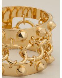 Alexander McQueen | Metallic Studded Cuff | Lyst