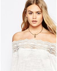 ASOS | Metallic Limited Edition Double Ball Choker Necklace | Lyst