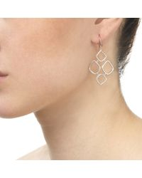 Monica Vinader - Metallic Riva Diamond Cluster Drop Earrings - Lyst