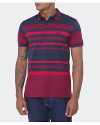 BOSS Green Blue Paddy 1 Striped Polo Shirt for men