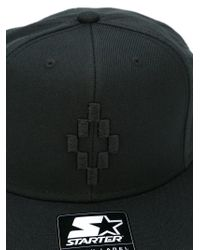 Marcelo Burlon - Black Embroidered Logo Cap for Men - Lyst