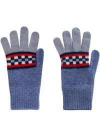 Quinton-chadwick Blue Noughts and Crosses Wool Gloves for men
