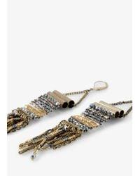 Mango | Metallic Beaded Pendant Earrings | Lyst