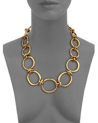 Vaubel | Metallic Large Irregular Oval Link Necklace | Lyst