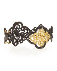 Armenta | Metallic Old World Scroll Bracelet With Diamonds for Men | Lyst