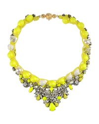 Shourouk - Yellow Necklace - Lyst