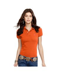 Polo Ralph Lauren | Orange Skinny-fit Polo Shirt | Lyst
