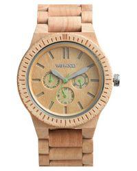 WeWood - Natural 'kappa' Multifunction Wood Bracelet Watch - Lyst