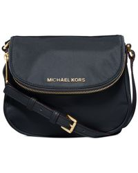 Michael Kors - Blue Michael Bedford Nylon Flap Crossbody - Lyst