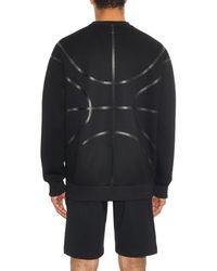 Givenchy Black Columbian-Fit Neoprene Sweatshirt for men