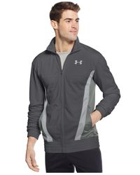 Under Armour | Gray Men's Time Travelin' Performance Full-zip Track Jacket for Men | Lyst