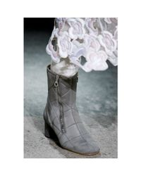 Marc Jacobs Gray Suede Ankle Boots