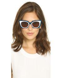 Fendi Blue Bold Statement Sunglasses