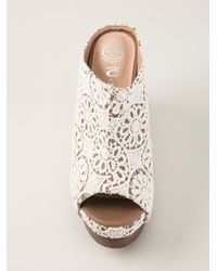 Jeffrey Campbell - Natural Lace Mules - Lyst