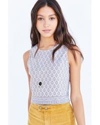 Truly Madly Deeply | Gray Everday Cropped Tank Top | Lyst