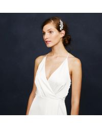 J.Crew | White Jeweled Leaves Comb | Lyst
