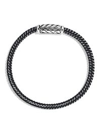 David Yurman | Metallic Chevron Bracelet In Black for Men | Lyst