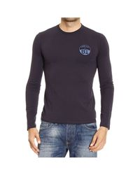 Armani Jeans | Blue T-shirt for Men | Lyst
