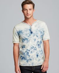 PRPS Blue Tie Dye Henley for men