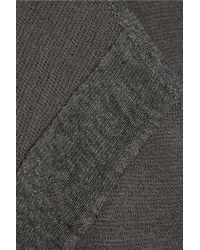 Duffy Gray Linen-Blend Mini Dress